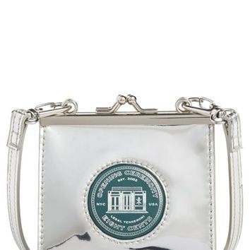 Opening Ceremony 'Coin' Metallic Calfskin Leather Double Clutch | Nordstrom
