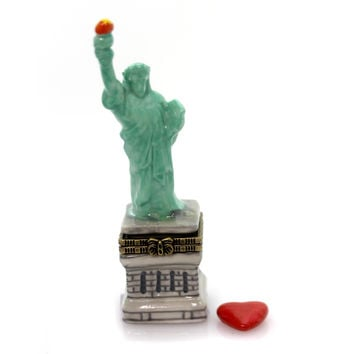 Hinged Trinket Box Statue Of Liberty Trinket Box