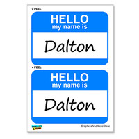Dalton Hello My Name Is - Sheet of 2 Stickers
