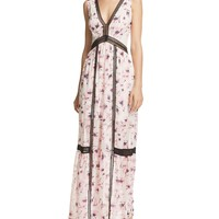 AQUA Floral V-Neck Maxi Dress - 100% Exclusive | Bloomingdales's