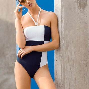 TOUCHE Morski Color Block One Piece