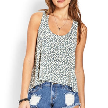 Floral Fields Flared Tank