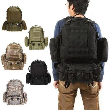 ONETOW Black Outdoor Military Tactical Backpack Rucksacks Sports Bag Camping Hiking Hunting Bags Packs mochila militar Large Capacity