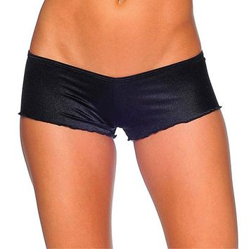 Scrunch Back Micro Shorts - Black