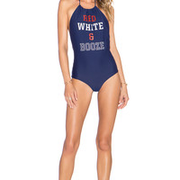 BEACH RIOT Port Forth One Piece in Navy