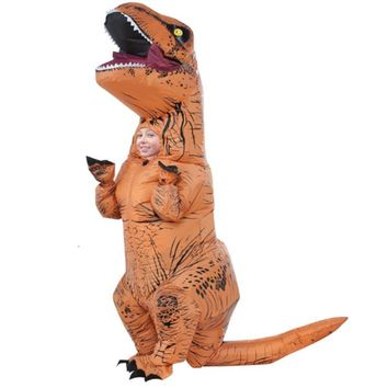 Kids T-REX Inflatable Dinosaur Costume Halloween Jurassic World Park Inflatable cosplay costume Party costume for children