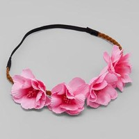 Bubblegum Pink Tropical Flower Crowns