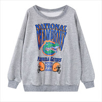 Grey Florida Gators Graphic Print Sweatshirt