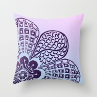 Floral Blush Throw Pillow by Inspired Images