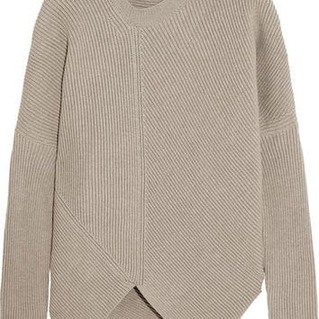Stella McCartney | Asymmetric ribbed wool sweater | NET-A-PORTER.COM