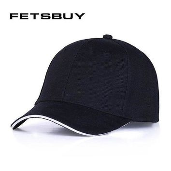 PEAPON [FETSBUY] male bone Golf Baseball Caps Outdoor polo Hats women men cap with straight D