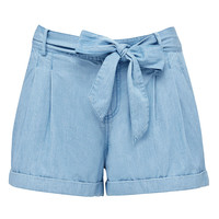 Georgia tie front slouchy short - Forever New