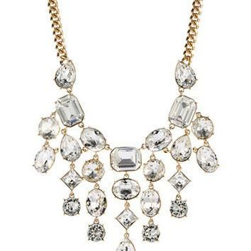 Lauren Ralph Lauren Swarovski Crystal Bib Necklace