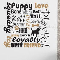 Dog lovers subway art vinyl wall decal, home decor, housewares, wall art