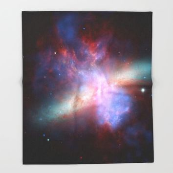 Cosmic Galaxy Throw Blanket by All Is One