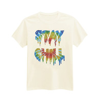 565 - Stay Chill - Horror - Dripping - Tie Dye - Printed T-Shirt - by HeartOnMyFingers