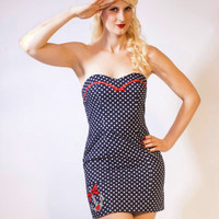 Nautical Polka Dot Sailor Dress