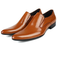 Men's dress shoes, men's flat shoes. Royal style.Leather shoes. Fashion men's shoes.2014 new product, brown. Free shipping + gift