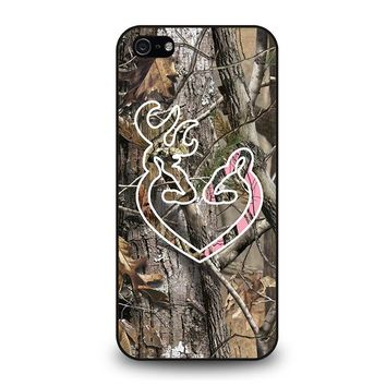 CAMO BROWNING LOVE iPhone 5 / 5S / SE Case Cover