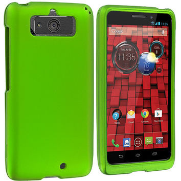 Neon Green Hard Rubberized Case Cover for Motorola Droid Mini XT1030