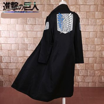 Cool Attack on Titan Halloween cosplay costume  Windbreaker Black no  Levi Rivaille Jacket Cloak Adult AT_90_11