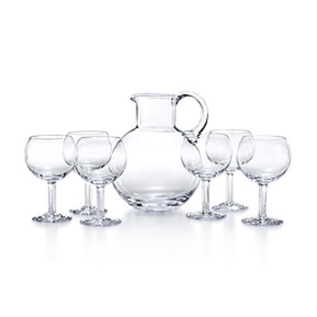 Tiffany & Co. -  Refresher set in handblown crystal with a pitcher and six glasses.