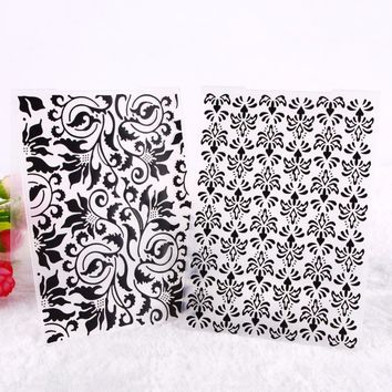 New Flower Pattern Plastic Embossing Folders For DIY Scrapbooking Card Making Decoration Papercraft #230981