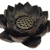 Incense holder Tea light holder Lotus incense and tea light holder