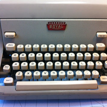 SALE! Working Typewriter Royal FP portable manual typewriter from 1950's
