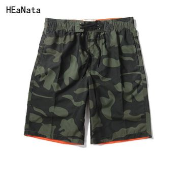 Summer Men's Shorts Fashion Camo Beach Short Trousers Casual Camouflage Military Men Straight  Board Bodybuilding Short Pants
