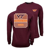 Southern Couture Virginia Tech Hokies Preppy Logo Long Sleeve T-Shirt