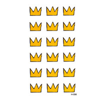 Cute Crown Waterproof Temporary Tattoos Men Harajuku henna tattoo beauty  tatouage flash tattoo pesca xha rouge alevre sticker