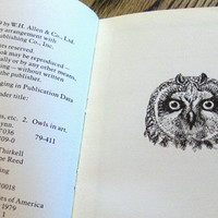 1979 Illustrated Owls Hardback First Printing Out of Print