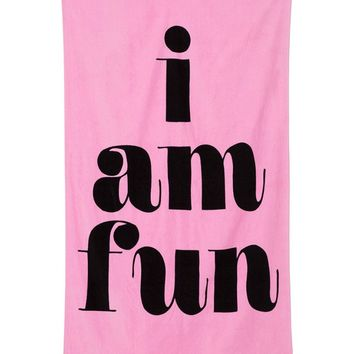 Giant I Am Fun Beach Towel