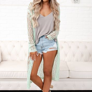 Danny Lightweight Cardigan (Mint)