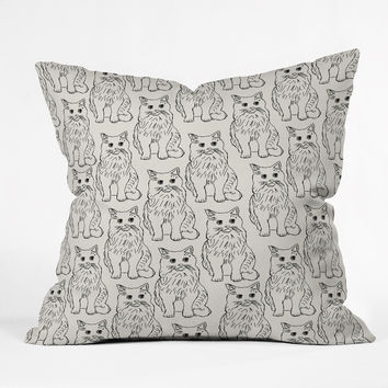 Allyson Johnson Cat Obsession Throw Pillow