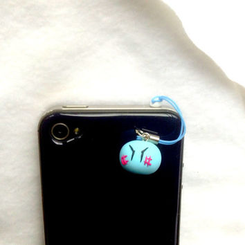 Anime charm, Clannad, dango daikazoku cute dust plug, kawaii phone charm, blue dango charm, polymer clay charms, cute phone strap, Japan