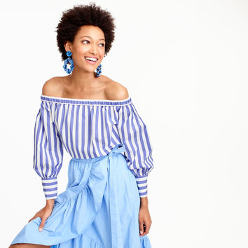 Collection Thomas Mason® for J.Crew off-the-shoulder striped top : Women off-the-shoulder tops | J.Crew