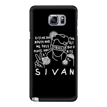 Troye Sivan Art Kiss Me On Mouth Arf 001  Samsung Galaxy Note 5 Case