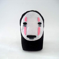 Spirited Away No-Face Felt Ooak. Ghibli. 15 cm