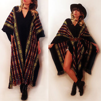 Shop Navajo Poncho on Wanelo