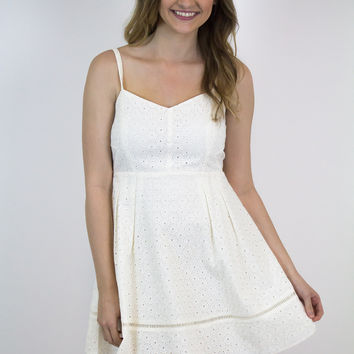 Ivory Lace Flare Dress - Jack by BB Dakota