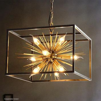 Chandelier Loft Chandeliers Chain Light Decorations Industrial Lamp Decor E27 220V Iron Creative Bar Hotel Club Lighting