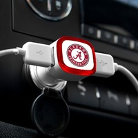 NCAA Alabama Crimson Tide Car Charger, White