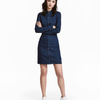 Fitted Shirt Dress - from H&M