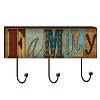 Family Hook Wood Wall Art (1115) - Illuminada
