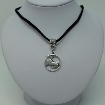 Cloudy Moon Necklace