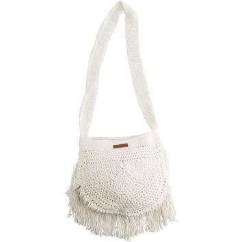BILLABONG WANDERING HEART CROCHET CROSSBODY BAG