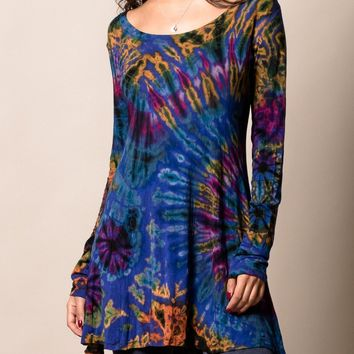 Tie Dye Long Sleeve Tunic