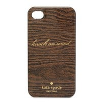 kate spade | knock on wood iphone 4 case